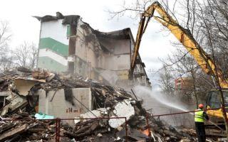 Бетон от снесенных домов найдет применение на подмосковных свалках